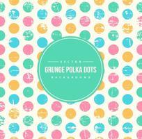 Grunge Polka Dot Bakgrund