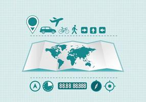 Reiseinformationsgrafik Element Vektor