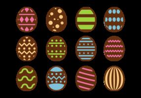 Choklad påskägg ikoner Vector
