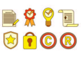Icon des Urheberrechts vektor