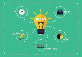 Creative glödlampa vektor