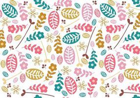 Einfache Blumen Illustrator Muster