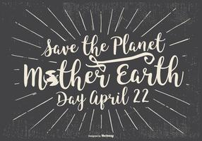 Typografisk Earth Day Illustration