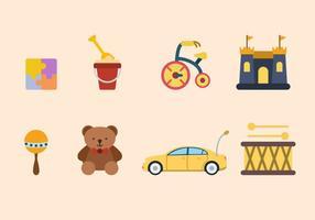 Wohnung Spielzeug Vektoren