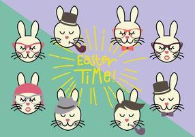 Grupp Hipster Bunny vektorer