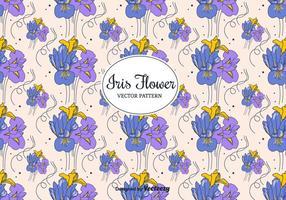 Iris Blommor Vector Mönster