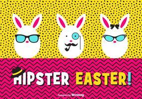 Glückliche Hipster Ostereier Vektor-Karte