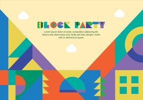 Block Party Hintergrund Vektor