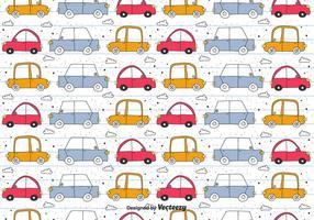 Doodle Car Vektor-Muster vektor