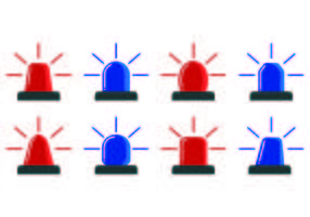 Ikone der Polizei Lichter vektor