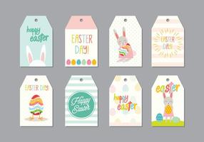 Easter Gift Tag Vector