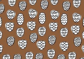 Brown & White Geometriskt Pine kottar