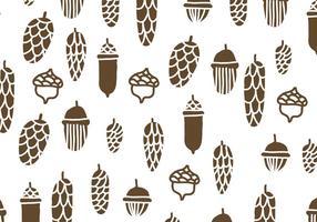 Brown Pine Cones Muster vektor
