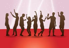Tanzen Menschen Silhouetten vektor