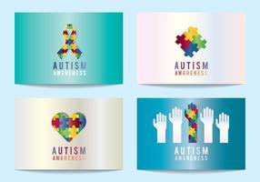 Autismus-Bewusstsein Symbole