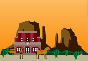 Wohnung Wildwest-Hintergrund-Design vektor