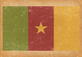Flagge von Camaroon auf Grunge Hintergrund vektor