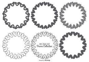Netter Sketchy Frames Herz-Sammlung