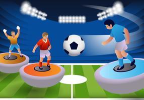 Subbuteo Tabell fotbollsmatch