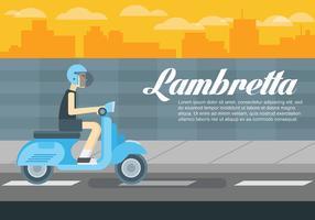 Lambretta Vektor Hintergrund