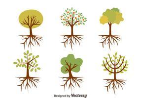 Nizza Baum mit Wurzeln Vektoren