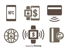 Nfc Zahlung Icons Vectors