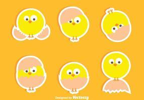 Fina påsk Chick vektorer