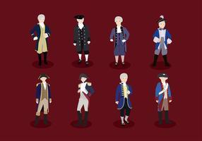 Colonial Character Gratis Vector