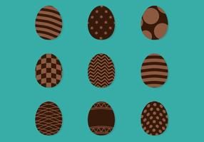 Verzierte Schokoladeneier