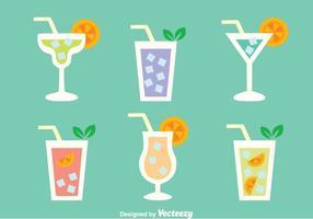 Glas cocktail meny vektorer