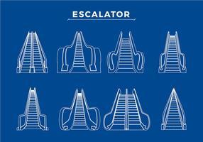 Verschiedene Escalator Free Vector