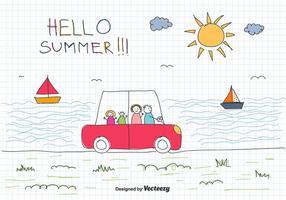 Familien-Ferien-Vektor Hintergrund vektor