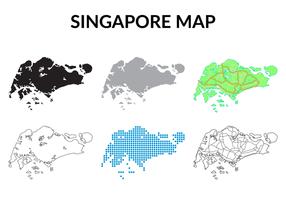 Olika Singapore Karta vektorer