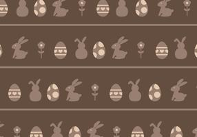 Braune Eier & Kaninchen Muster vektor