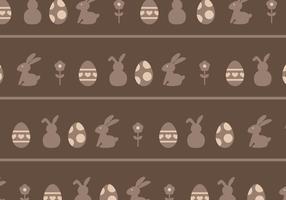 Bruna ägg & Rabbits Mönster