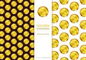 Gratis Golden Rhinestone Bakgrund Vector