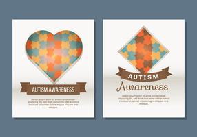 Autismus-Plakat-Schablone