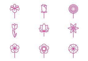 Blumen-Symbol vektor
