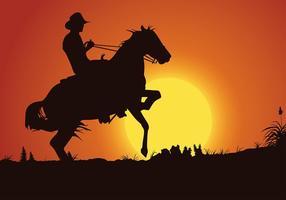 Gaucho Sunset Gratis Vector