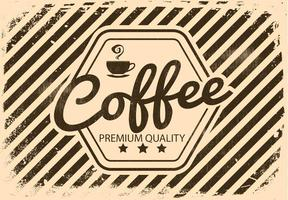 Vinatge Retro Coffee Illustration