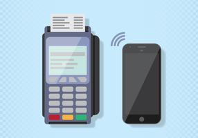 NFC betalning vektor