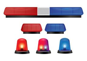 Polizei Lichter und Sirene Vektoren