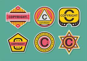Copyright Briefmarken Vector Set