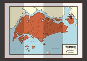 Singapur Karte Illustration