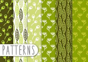 Dekorative Green Leaf Pattern Set vektor