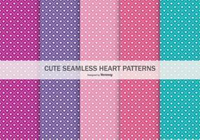 Nette nahtlose Herz-Muster-Sammlung