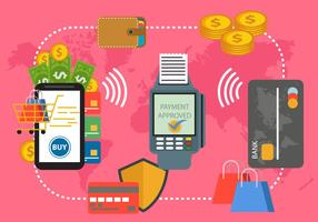 Betalning med NFC System vektor