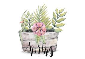 Blommande Spring Vector Bakgrund