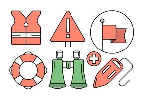 Freier Rettungsschwimmer Icons in Vektor-Elementen vektor