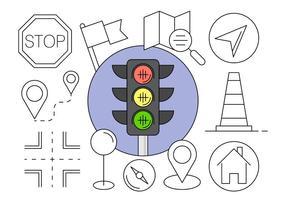 Navigerings Ikoner gratis i vektorelement